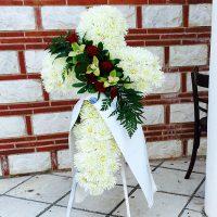 Στεφάνι κηδείας άσπρο
